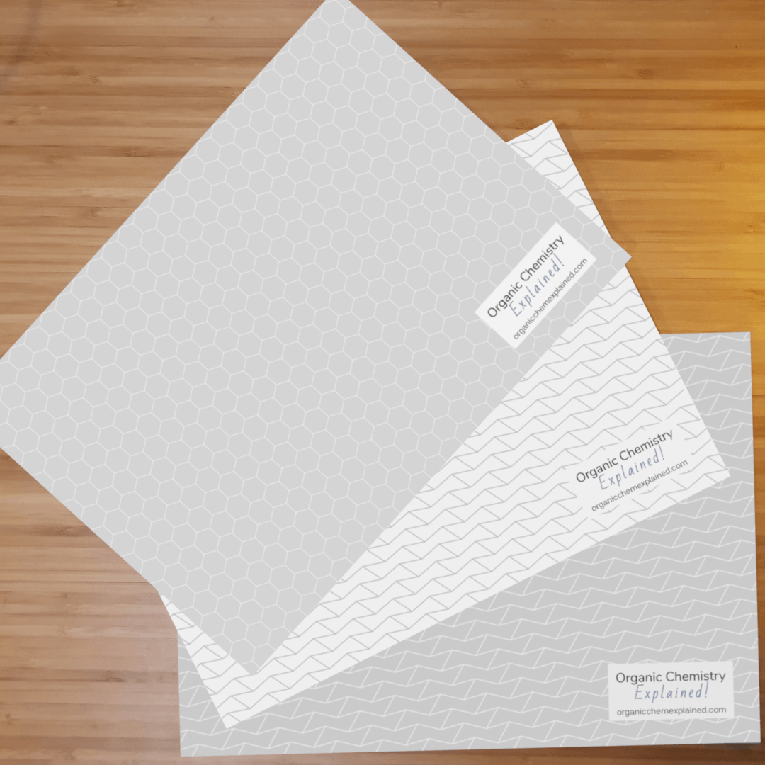 White and grey background organic chemistry templates