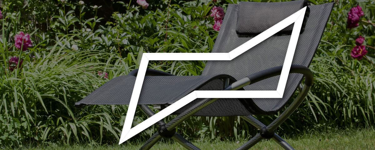 Chair cyclohexane conformation overlaid on a outdoor recliner chair, showing their similarity in shape